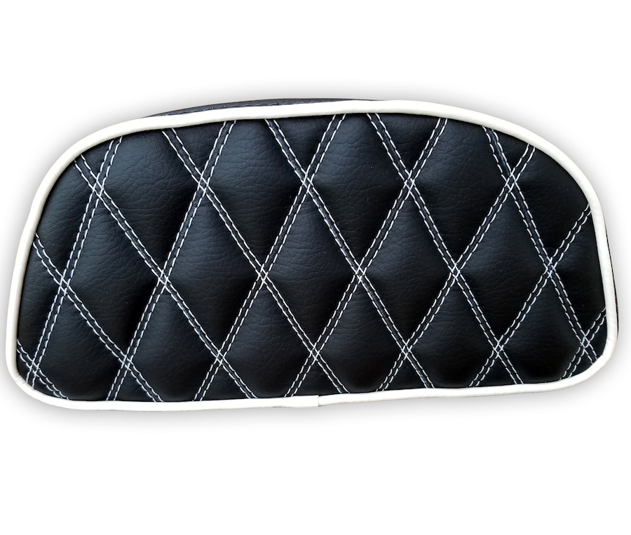 Vespa LX Black Diamond Stitch Top Case Backrest Pad Cover